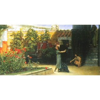 The Museum Outlet - A warm welcome by Alma-Tadema - Poster Print Online Buy (24 X 32 Inch)