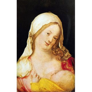 The Museum Outlet - Mary with the child by Durer - Poster Print Online Buy (24 X 32 Inch)