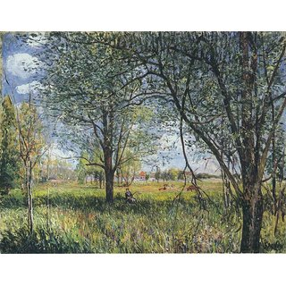 The Museum Outlet - Willows in a Field - Afternoon - Poster Print Online Buy (30 X 40 Inch)