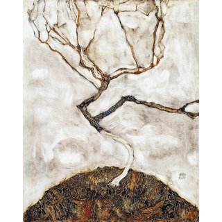 The Museum Outlet - Egon Schiele - Small Tree in Late Autumn - Poster Print Online Buy (24 X 32 Inch)