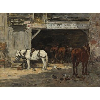The Museum Outlet - Stables with Horses for Rent, 18985-90 - Poster Print Online Buy (24 X 32 Inch)