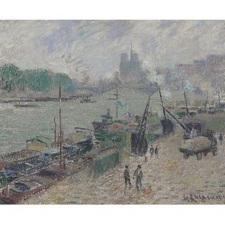 The Museum Outlet - The Quay of Henri IV, Paris, 1918 - Poster Print Online Buy (24 X 32 Inch)
