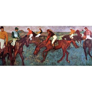 The Museum Outlet - Before the start (Jockeis during training) by Degas - Poster Print Online Buy (24 X 32 Inch)
