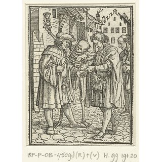 The Museum Outlet - Lawyer and Death. 1524-1538 - Poster Print Online Buy (24 X 32 Inch)