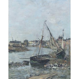 The Museum Outlet - Trouville, the Harbour - Poster Print Online Buy (24 X 32 Inch)
