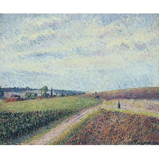 The Museum Outlet - View of Eragny, 1892 - Poster Print Online Buy (24 X 32 Inch)