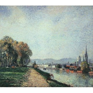 The Museum Outlet - View of Rouen, 1883 - Poster Print Online Buy (24 X 32 Inch)