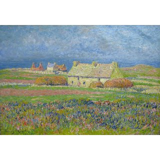 The Museum Outlet - Flowering Dunes, Ouessan - Poster Print Online Buy (24 X 32 Inch)