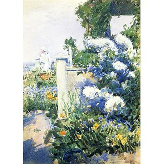 The Museum Outlet - Garden by the Sea, Isles of Shoals, 1892 - Poster Print Online Buy (24 X 32 Inch)