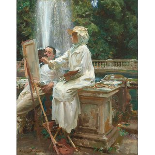 The Museum Outlet - John Singer Sargent - The Fountain, Villa Torlonia, Frascati, Italy - Poster Print Online Buy (24 X 32 Inch)