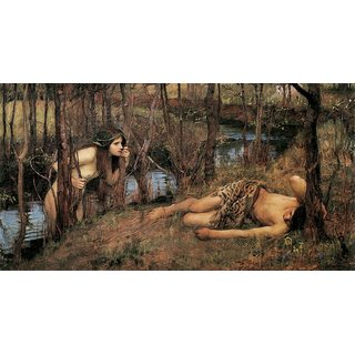 The Museum Outlet - A Naiad or Hylas with a Nymph by John William Waterhouse (1893) - Poster Print Online Buy (24 X 32 Inch)