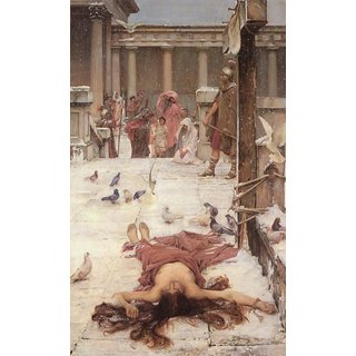 The Museum Outlet - John William Waterhouse - Saint Eulalia - 1885 - Poster Print Online Buy (24 X 32 Inch)
