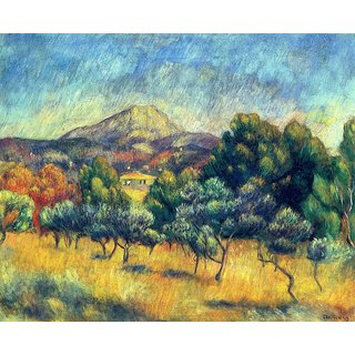 The Museum Outlet - Mount Sainte-Victoire, 1888-89 - Poster Print Online Buy (24 X 32 Inch)