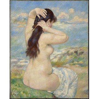The Museum Outlet - Nude Fixing Her Hair, 1885 - Poster Print Online Buy (24 X 32 Inch)