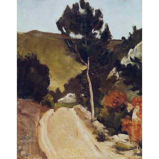 The Museum Outlet - Road in Provence, 1868 - Poster Print Online Buy (24 X 32 Inch)