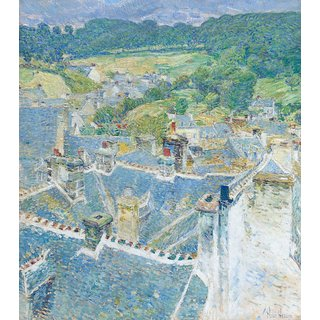 The Museum Outlet - Rooftops, Pont-Aven, Brittany, 1897 - Poster Print Online Buy (24 X 32 Inch)