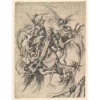 The Museum Outlet - Temptation of St.Anthony (1470-1490) - Poster Print Online Buy (24 X 32 Inch)
