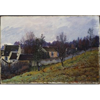 The Museum Outlet - Autumn in Louveciennes, 1873 - Poster Print Online Buy (24 X 32 Inch)