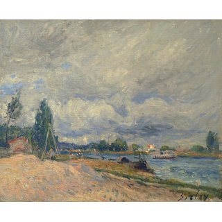 The Museum Outlet - Banks of the Seine, 1878-79 - Poster Print Online Buy (24 X 32 Inch)