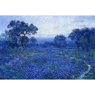The Museum Outlet - Bluebonnet Scene, 1920-21 - Poster Print Online Buy (24 X 32 Inch)