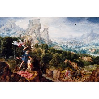 The Museum Outlet - Landscape with the Offering of Isaac - Poster Print Online Buy (24 X 32 Inch)