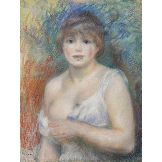 The Museum Outlet - Portrait of Jeanne Samary, 1879-80 - Poster Print Online Buy (24 X 32 Inch)