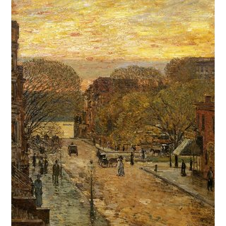 The Museum Outlet - Spring on West 78th Street, 1905 - Poster Print Online Buy (24 X 32 Inch)