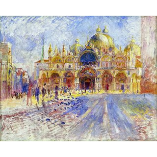 The Museum Outlet - The Piazza San Marco, Venice, 1881 - Poster Print Online Buy (24 X 32 Inch)