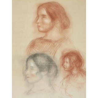 The Museum Outlet - Studies of Head (Gabrielle) - Poster Print Online Buy (24 X 32 Inch)
