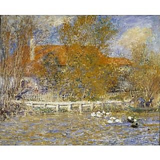 The Museum Outlet - The Duck Pond, 1873 - Poster Print Online Buy (24 X 32 Inch)