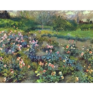 The Museum Outlet - The Garden of Roses, 1870-73 - Poster Print Online Buy (24 X 32 Inch)