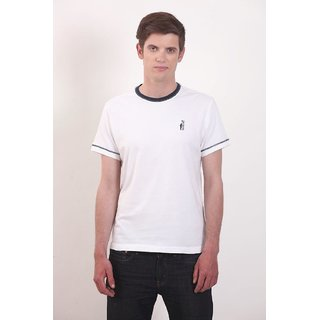 Smokestack Cotton Round Neck Half Sleeves Men's T-Shirt (White)