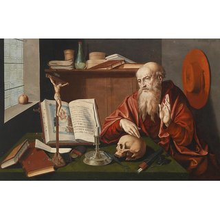 The Museum Outlet - Saint Jerome in his study - Poster Print Online Buy (24 X 32 Inch)