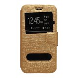micromax canvas 4 a210 flip cover by geocell - golden