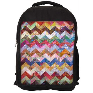 Snoogg Hori Grunge Waves 2567 Digitally Printed Laptop Backpack