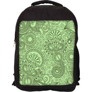 Snoogg Fabric Pattern Light Green Designer Laptop Backpacks
