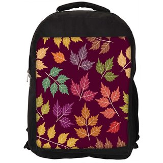 Snoogg A Seamless Pattern With Leaf Designer Laptop Backpacks