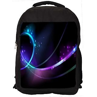 Snoogg Shinning Waves Digitally Printed Laptop Backpack