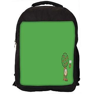 Snoogg Gravity Humor Digitally Printed Laptop Backpack