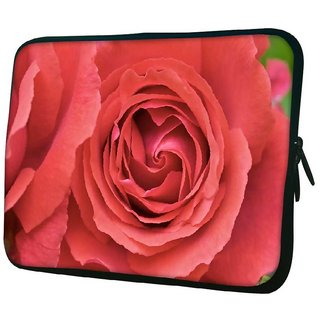 Snoogg Red Roses 10.2 Inch Soft Laptop Sleeve