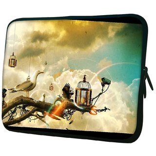 Snoogg Creative Wallpaper Ideas 10.2 Inch Soft Laptop Sleeve