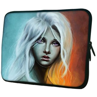 Snoogg Sad Blonde Girl 2692 10.2 Inch Soft Laptop Sleeve