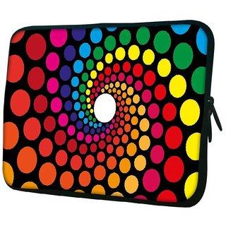 Snoogg Spiraling Circles 2791 10.2 Inch Soft Laptop Sleeve