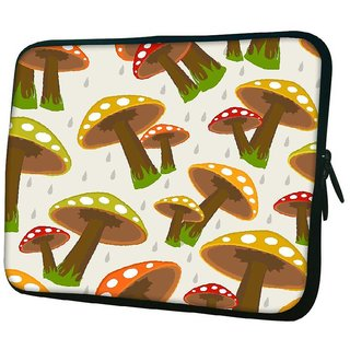 Snoogg Seamless Rainy Season Background Designer Protective 10.2 Inch Soft Laptop Sleeve