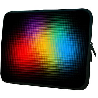 Snoogg Black Background 10.2 Inch Soft Laptop Sleeve