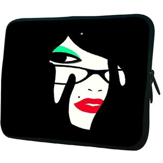 Snoogg Womans Face 2846 10.2 Inch Soft Laptop Sleeve