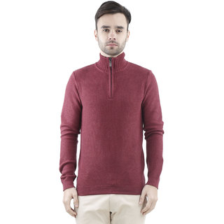 Celio Red Long Sleeve Sweaters For men