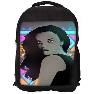 Snoogg Uber Style Chic Digitally Printed Laptop Backpac