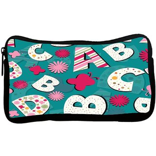 Snoogg Alphabets Butterfly Poly Canvas S Multi Utility Travel Pouch