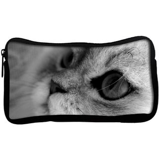 Snoogg Garcya Cat Eye Poly Canvas  Multi Utility Travel Pouch